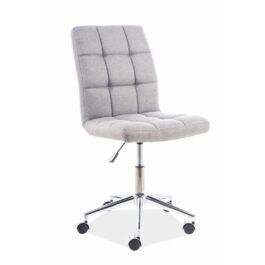 Fotel biurowy Q-020 tkanina szara