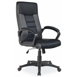 Fotel biurowy Q-049 ekoskóra-tkanina czarna